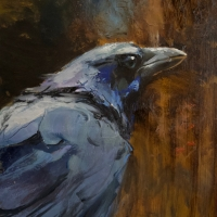 """""""Nevermore"""" 12""""x16"""" oil on panel"""